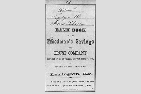 Freedmans Bank Passbook