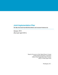 Joint Implementation Plan: 301-326 of the Dodd-Frank Wall Street Reform and Consumer Protection Act Cover Image