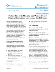Partnerships With Minority- and Women-Owned Financial Institutions ...