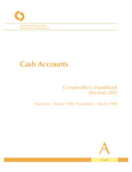 Comptroller's Handbook: Cash Accounts Cover Image
