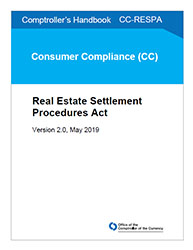 Comptroller's Handbook: Real Estate Settlement Procedures Act Cover Image