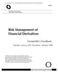 Comptroller's Handbook: Risk Management of Financial