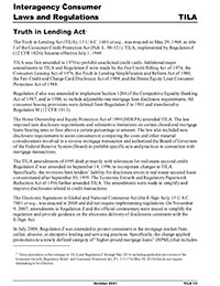 Comptroller's Handbook: Truth in Lending Act Cover Image