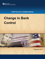 Licensing Manual - Change in Bank Control Cover Image